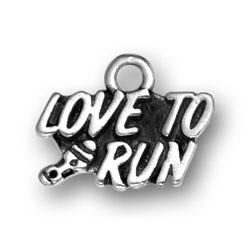Love To Run Charm Image