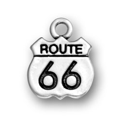 Route 66 Road Sign Charm Image