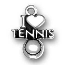 I Heart Tennis Charm Image