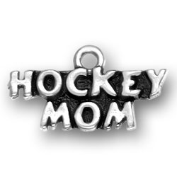 Sterling Silver Hockey Mom Charm Image