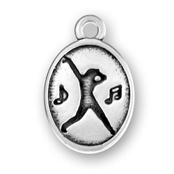 Oval Charm With Dancer Image