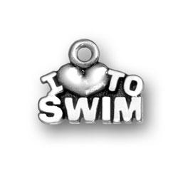 I Heart To Swim Charm Image