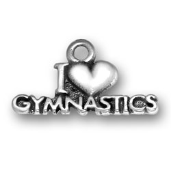 I Heart Gymnastics Charm Image