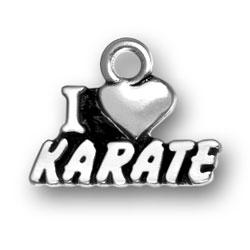 I Heart Karate Charm Image
