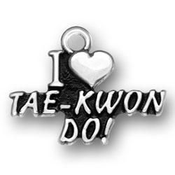 I Heart Tae Kwon Do Charm Image