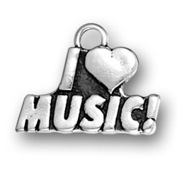 I Heart Music Charm Image