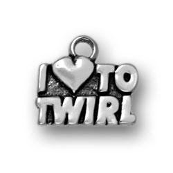 I Heart To Twirl Charm Image