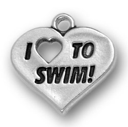 I Heart To Swim Charm Image