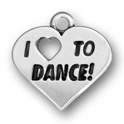 I Heart To Dance Charm Image