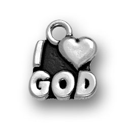 I Heart God Charm Image