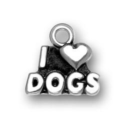 I Heart Dogs Charm Image