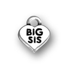 Big Sis In Heart Charm Image