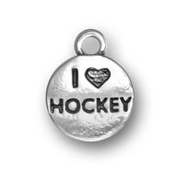 I Heart Hockey Charm Image