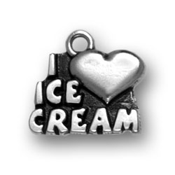 I Heart Ice Cream Charm Image