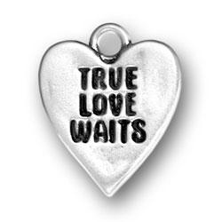 True Love Waits Heart Charm Image