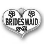 Bridesmaid Heart Charm Image