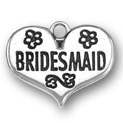 Bridesmaid Heart Charm Image
