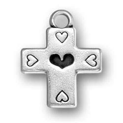 Cross With Hearts Charm Image