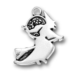 Sterling Silver Witch Charm Image