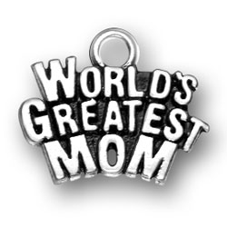 Worlds Greatest Mom Charm Image