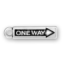 One Way Sign Charm Image