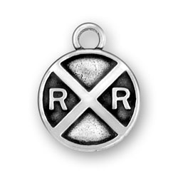 Railroad Crossing Sign Charm Image