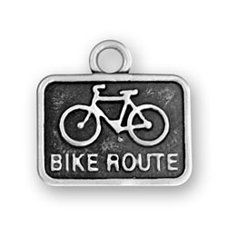 Bike Route Sign Charm Image