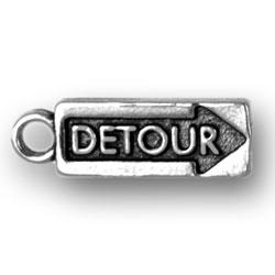 Detour Sign Charm Image