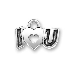 Sterling Silver I Heart You Charm Image