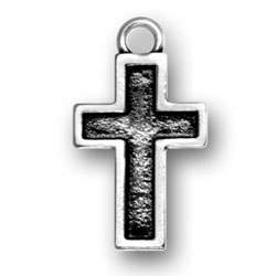 Cross With Border Charm Image