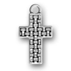 Weave Design Cross Charm Image