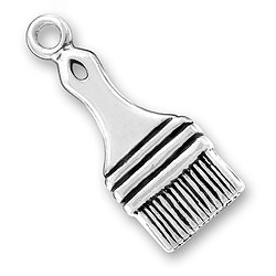 Sterling Silver Paint Brush Charm Image