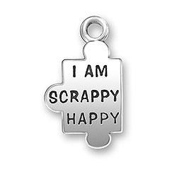 I Am Scrappy Happy Charm Image