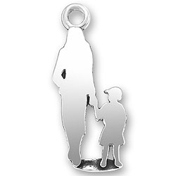 Woman Walking With Child Charm Image