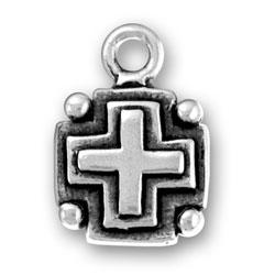 Block Cross Charm Image