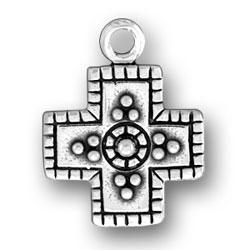 Beaded Square Cross Charm Image