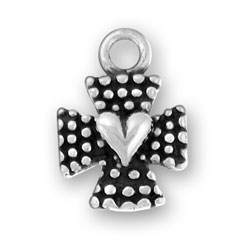 Maltese Cross Heart Charm Image