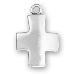 Plain Square Cross Charm Image