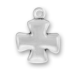 Thick Maltese Cross Charm Image