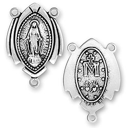 Two Sided Virgin Mary Rosary Center Image