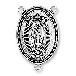 Large Virgin Mary Rosary Center Image