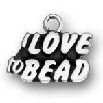 I Love To Bead Charm Image