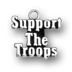 Support The Troops Charm Image
