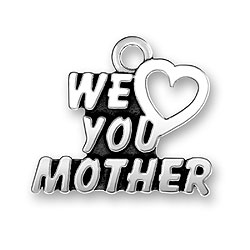 We Heart You Mother Charm Image