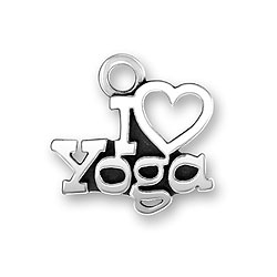 I Heart Yoga Charm Image