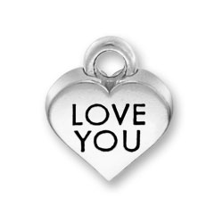 Love You Heart Charm Image