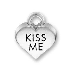 Kiss Me Heart Charm Image
