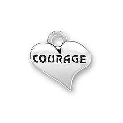 Courage Heart Charm Image
