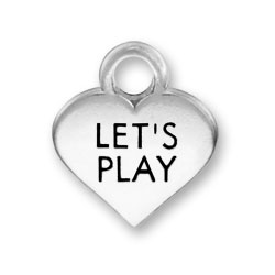 Thin Lets Play Heart Charm Image