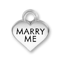 Thin Marry Me Heart Charm Image